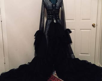 Black Haute Couture Victorian  Robe