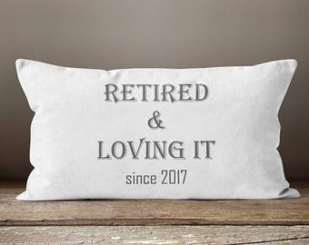 Retirement Gift Women | Retirement Gifts | Gift for Coworker |  Pillow | Retirement Gifts For Coworkers | Women's Retirement Gifts | Gifts