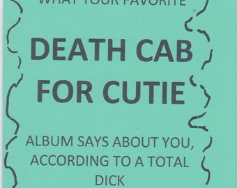 Death Cab for Cutie Zine