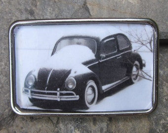 Vintage cars Automobile VW volkswagen Beetle Belt Buckle black white vintage cars Lavish Lucy Designs Mens women's belt buckle unique gift