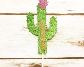 One Cake Topper - Cactus Cake Topper - First Birthday Girl Cake Topper - Cactus Birthday - Smash Cake Topper - Birthday Decor