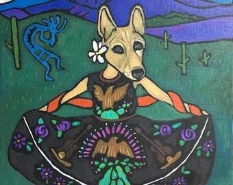 Pet Portrait/Your pet/11x14 Custom pet painting for Katie