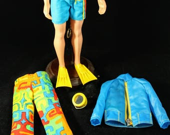 """Ken Doll Clothing #1435 """"Shore Lines"""" 1970 Five piece set.  Doll Not Included."""