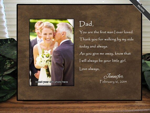 Father Gifts Wedding: Father Of The Bride Frame Father Of The Bride Gift Wedding