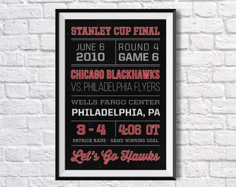 Blackhawks -2010 Stanley Cup Final - Game 6 Ticket - Canvas or Poster