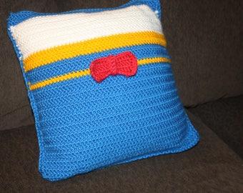Crochet PATTERN –Disney Inspired Throw Pillow –Donald Duck –Home Decor –Decorative Pillow –Disney Crochet