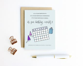 Birthday Card - It's Your Birthday Month | Birthday Card, Birthday Weekend Card, Funny Birthday Card, Unique Birthday, Bestie Birthday