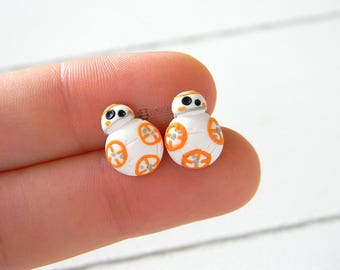 Bb8 Stud earrings, Star Wars inspired