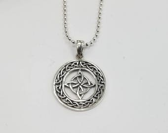 Sterling SIlver Celtic Quadquetra Pendant with Bail