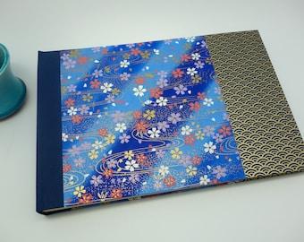 "Customizable ""indigo"" photo - album wedding album, guest book or birth. Wedding book, guest book, polaroid album"