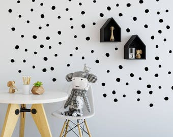 Polka Dot Wall Decal / Large Polka Dot Decal / Gold Polka Dot