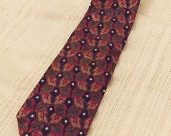 Christian Dior Monsieur Designer Men's Necktie Maroon Pattern