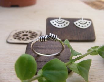 Silver Handmade Wire ring