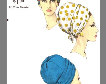 Vogue Millinery Designer Halston Turban Fabric material sewing pattern # 6606 Copy