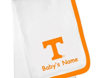Tennessee Volunteers Personalized Baby Blanket