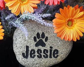 Pet Memorial Marker - Garden Pet Memorial - Personalized Pet Memorial - Pet Memorial - Dog Memorial Stone - Engraved Memorial Stone For Cats