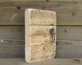 HANDMADE Key Holder - Wall Mounted - Reclaimed Scaffold Wood - Eco Friendly Gift - Key Tidy - Hallway Kitchen Organiser -  Rustic Style