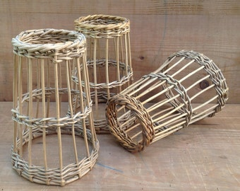 Set of 3 willow items to roll up sausages