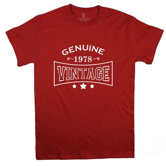 40th Birthday Gift For Man 1978 Vintage T shirt ideal present for men celebrating a fortieth birthday, medium large xl 2xl