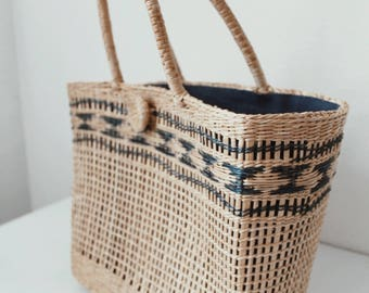 Woven Market Bag - Tote - Straw