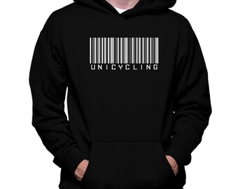 Unicycling Barcode Hoodie