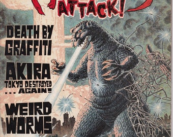 Monsters Attack #4 - September 1990 Issue - Special Godzilla / Japanese SciFi Issue - Globe Publications