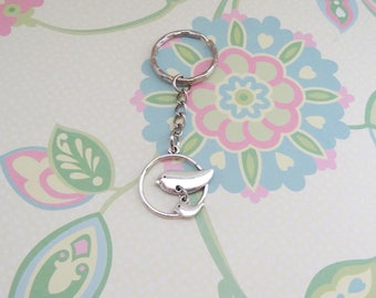 Silver Mommy Bird and Baby Keychain - Ready to Ship