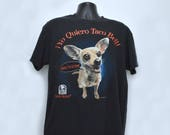 90s TACO BELL DOG T-Shirt Yo Quiero Taco Bell Size Large Mens Womens Unisex 1990s I think I'm in Love Fast-Food Restaurant Chihuahua