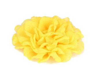 Yellow Dog Collar Flower, Yellow Collar Flower Attachment, Yellow Collar Flower Add On, Yellow Collar Flower Accessory, Dog Collar Flower