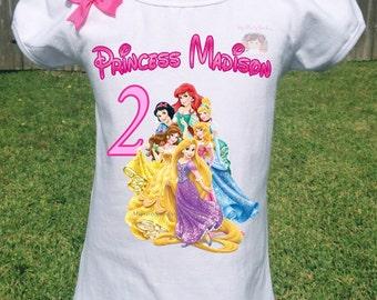 Princess Birthday Shirt, Disney Princesses Birthday Shirt,Princesses Shirt