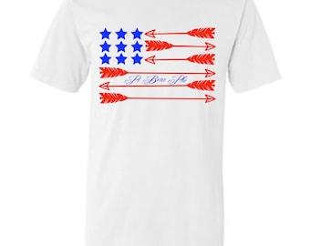 Pi Beta Phi Flag Comfort Colors T Shirt