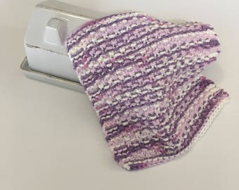 Purple Washcloth - Knit Dishcloth - Spa Cloth - Baby Washcloth - Handmade Cloth - Facecloth - Beauty Routine - Washrag