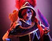 Signed Cosplay print of 'Xayah-League of Legends' cosplay by PretzlCosplay A4 size
