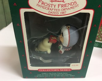 Hallmark 1986 Frosty Friends series Seal with Gift 8th in series