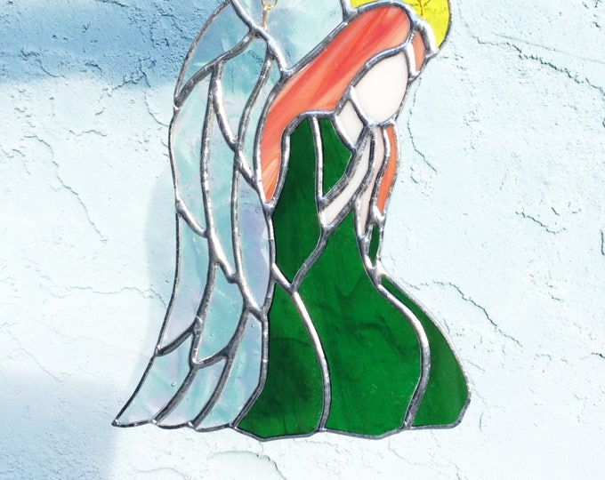 Stained Glass Angels, Angel Decor, Angel suncatcher, prism suncatcher, wall decor, window decor, Mothers day gift, gift for her, Angels,