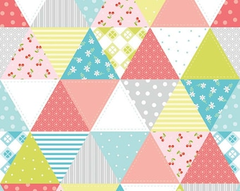 Glamper-licious Triangle Patchwork Fabric