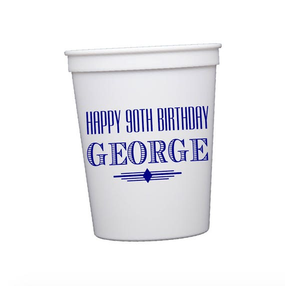Adult birthday favors, personalized birthday cups, birthday party cups, personalized stadium cups, birthday party decorations
