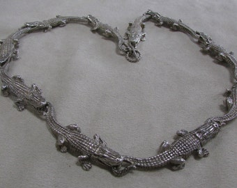 Sterling Silver Aligator Necklace