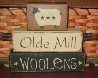 Old Mill Woolens 3pc Block Set
