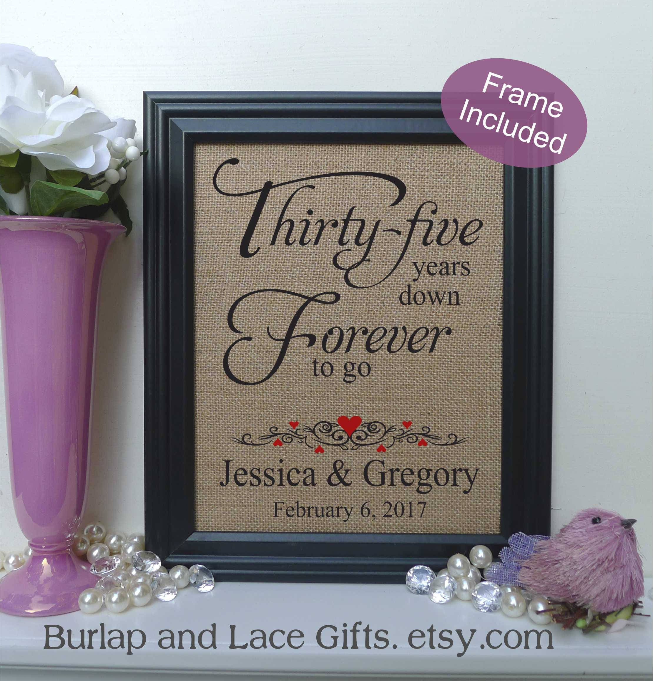 What Is The 35th Wedding Anniversary Gift: FRAMED Personalized 35th Anniversary Gift/35 Years Of