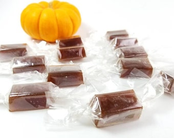 Pumpkin Spice Hard Candy, Pumpkin Honey Candy, Fall Hard Candy, Candy with Natural Ingredients ingredients, Cinnamon Spice, Ginger