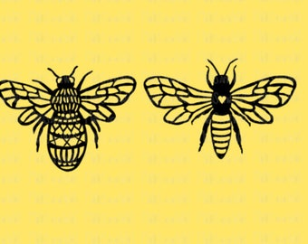 Bees svg/png/dxf digital cutting file/for Silhouette/Cricut/insect svg/svg download/bee svg/insect svg/decorative bees svg/queen bee/HTV