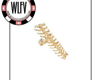 Spine Chilling Ring in Gold, Size 6