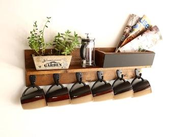 Coffee Mug Rack | Coffee Cup Holder | Coffee Mug Holder | Coffee Cup Rack | Coffee Mug Storage