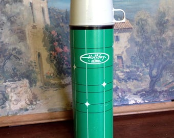Vintage Holiday thermos by Thermos