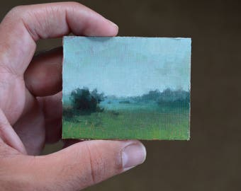 WICONSIN MORNING IV / Refrigerator Magnet Oil Painting