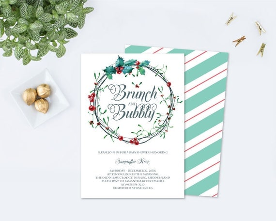 Edit now brunch and bubbly christmas bridal shower invitation il570xn filmwisefo