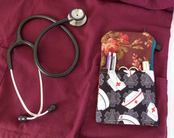 Nurse Gift. Medical Pocket Pouch.Medical Student Gift.Doctor Gift.Pocket Organizer.RN Gift.Nurse Hat Pouch.Medical Hat Pouch.Nursing Student