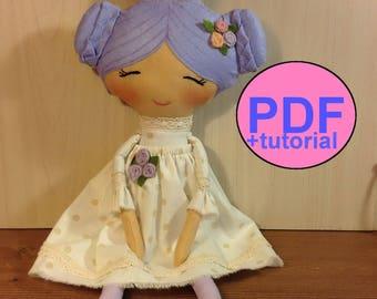 Cloth Doll Pattern  Rag Doll Pattern  PDF doll tutorial rag doll sewing pattern princess doll sewing tutorial doll making pattern DIY doll