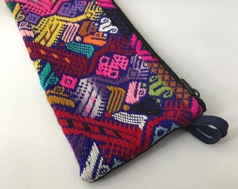 Bold Mayan Embroidered Pencil Pouch